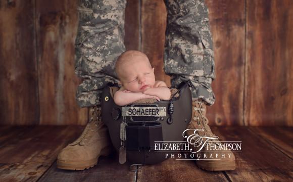 Military Newborn Photographer – Elizabeth Thompson – Meet Handsome Little Phinehas!